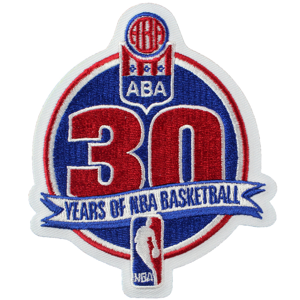 National Basketball Association NBA ABA 30th Anniversary Logo Patch (2005-06)