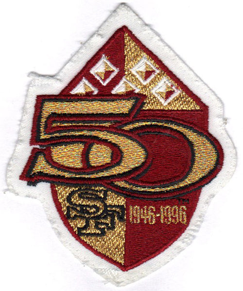 1996 San Francisco 49ers 50th Anniversary Season Jersey Patch