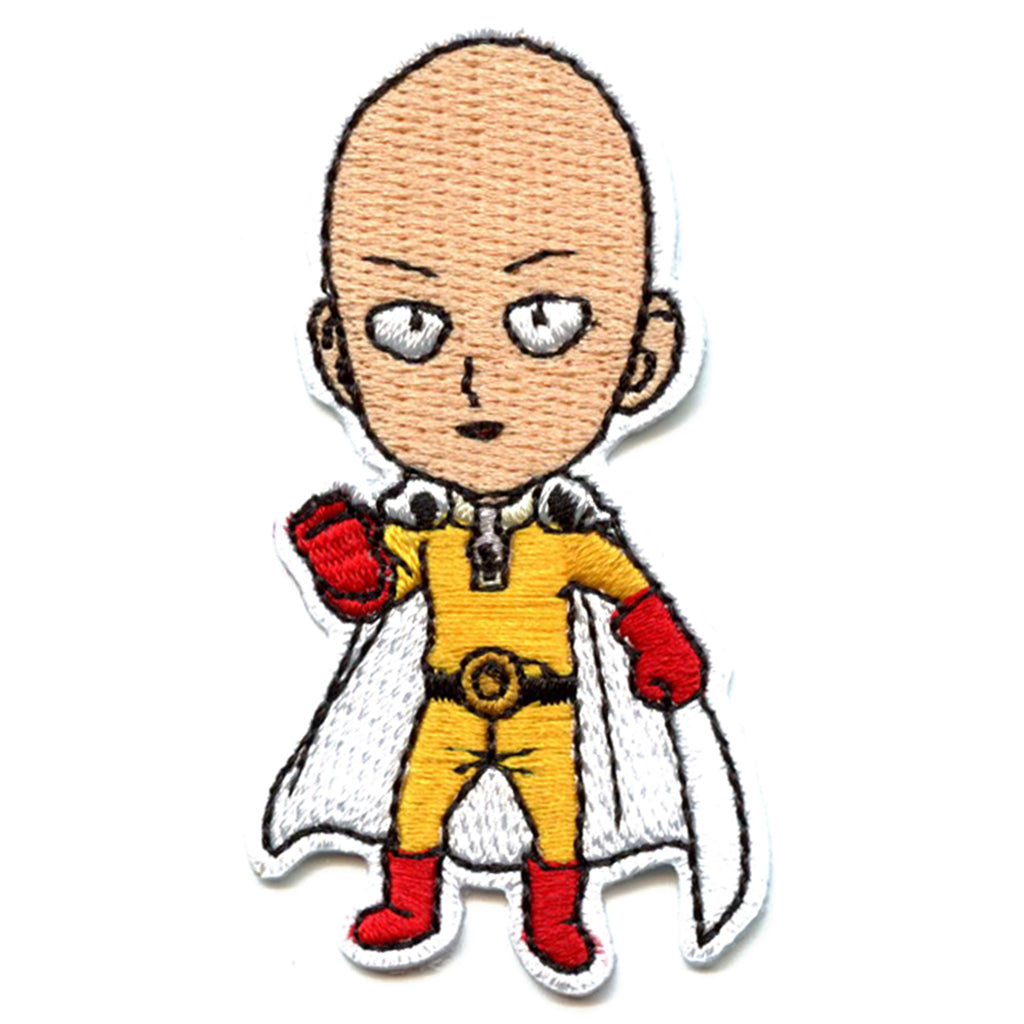 One Punch Man Anime Saitama Embroidered Patch