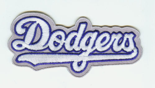 "Los Angeles Dodgers ""Dodgers"" Script Road Sleeve Patch"