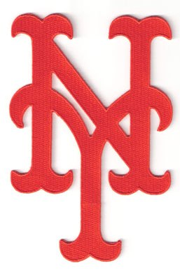 "New York Mets ""NY"" Orange Hat Logo Patch"