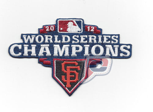 2012 San Francisco Giants MLB World Series Champions Red Version Jersey Patch (Discontinued)