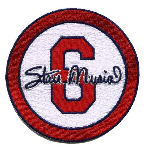 Stan 'The Man' Musial #6 St Louis Cardinals Memorial White Sleeve Patch (2013)