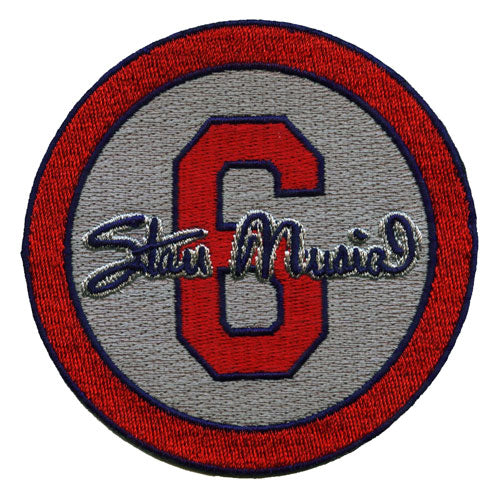 Stan Musial 'The Musial' #6 St Louis Cardinals Memorial Gray Sleeve Patch (2013)