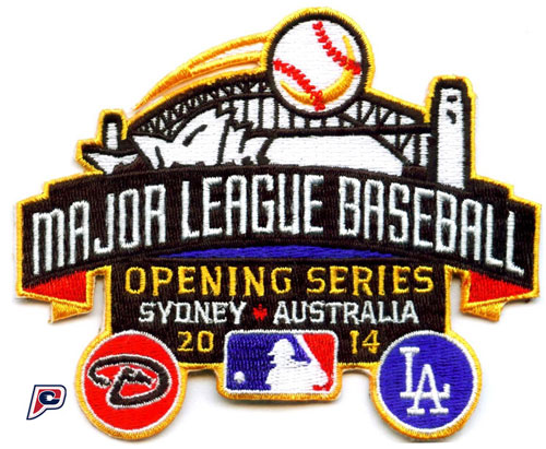 2014 MLB Opening Series in Sydney Australia Jersey Patch (Arizona Diamondbacks vs. Los Angeles Dodgers)