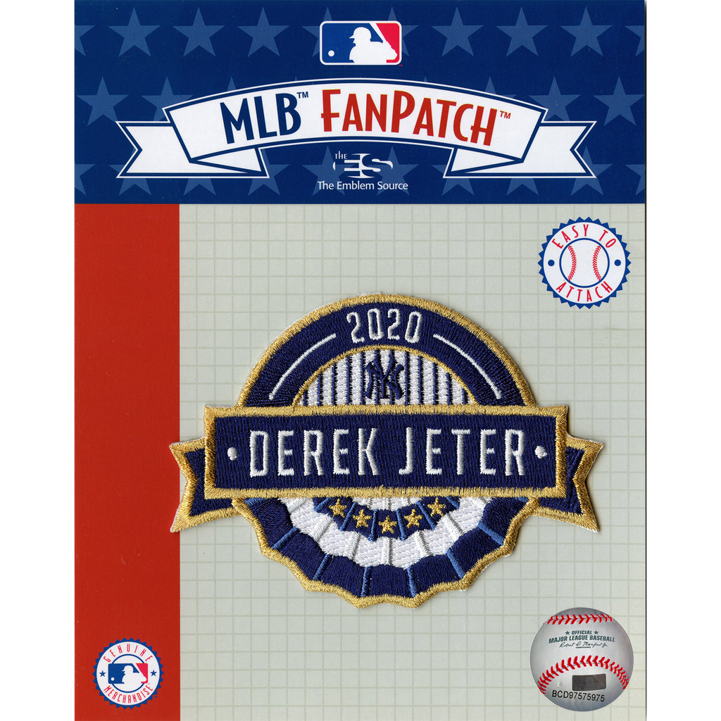 2020 Derek Jeter New York Yankees MLB Hall of Fame Patch