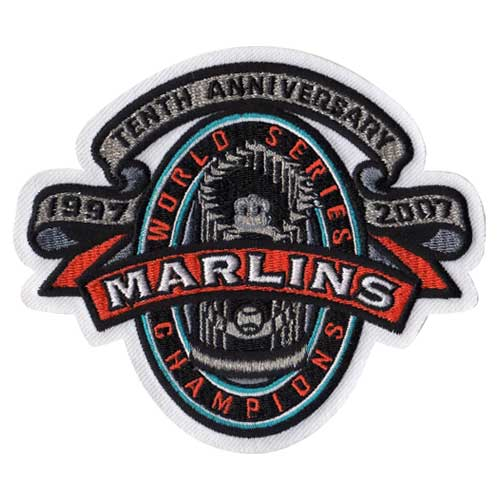 1997 Florida Marlins 10th Anniversary MLB World Series Champions Jersey Patch (2007)