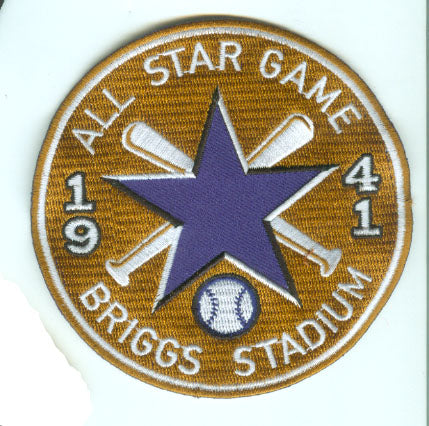 1941 MLB All Star Game Detroit Tigers Briggs Stadium Jersey Patch