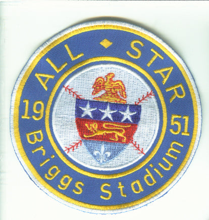 1951 MLB All Star Game Detroit Tigers Briggs Stadium Jersey Patch