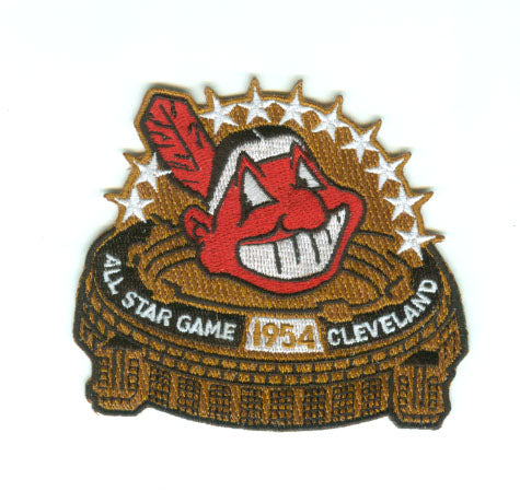 1954 MLB All Star Game Cleveland Indians Municipal Stadium Jersey Patch
