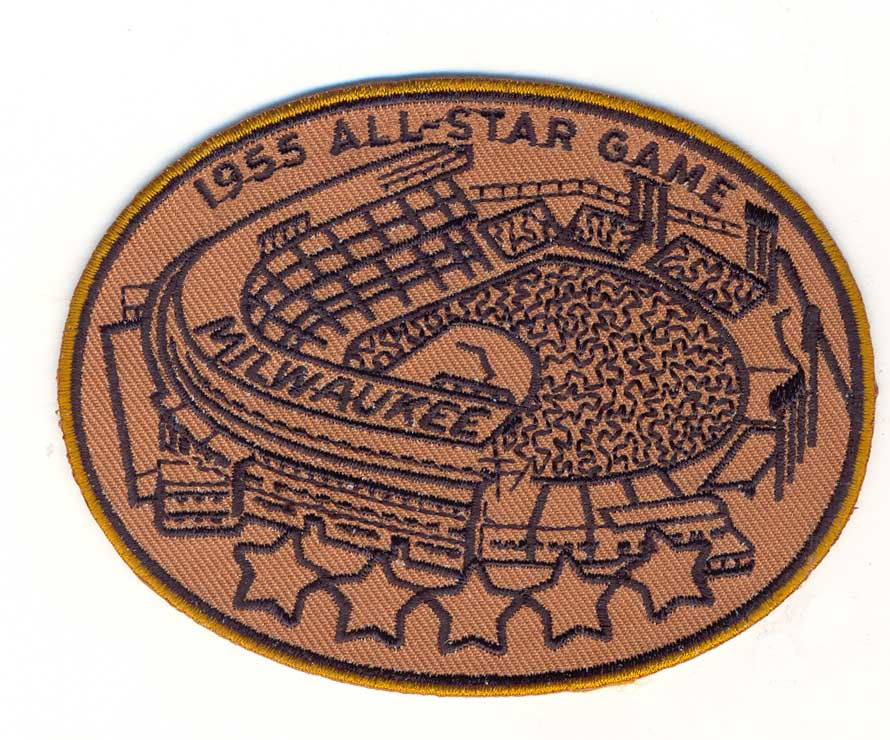 1955 MLB All Star Game Milwaukee Braves County Stadium Jersey Patch