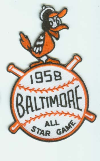 1958 MLB All Star Game Baltimore Orioles Memorial Stadium Jersey Patch