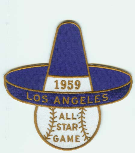 1959 MLB All Star Game Los Angeles Dodgers Memorial Coliseum Jersey Patch