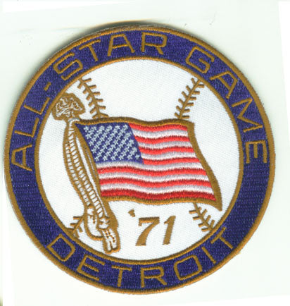 1971 MLB All Star Game Detroit Tiger Stadium Jersey Patch