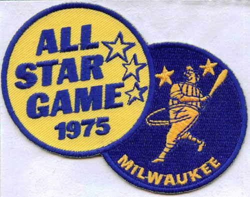 1975 MLB All Star Game Milwaukee Brewers County Stadium Jersey Patch