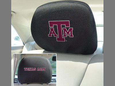 Texas A&M Aggies Head Rest Covers 2-Piece