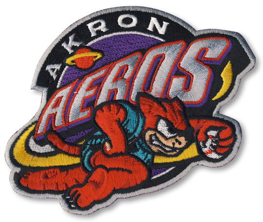 Akron Aeros Primary Team Logo Patch
