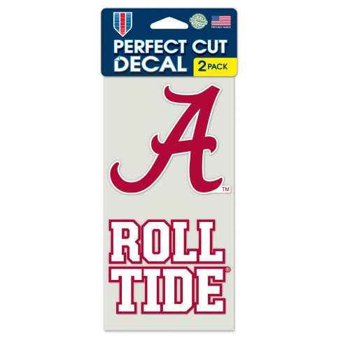 University of Alabama Crimson Tide Logo Perfect Cut Decals 2-Pack 4 x 8