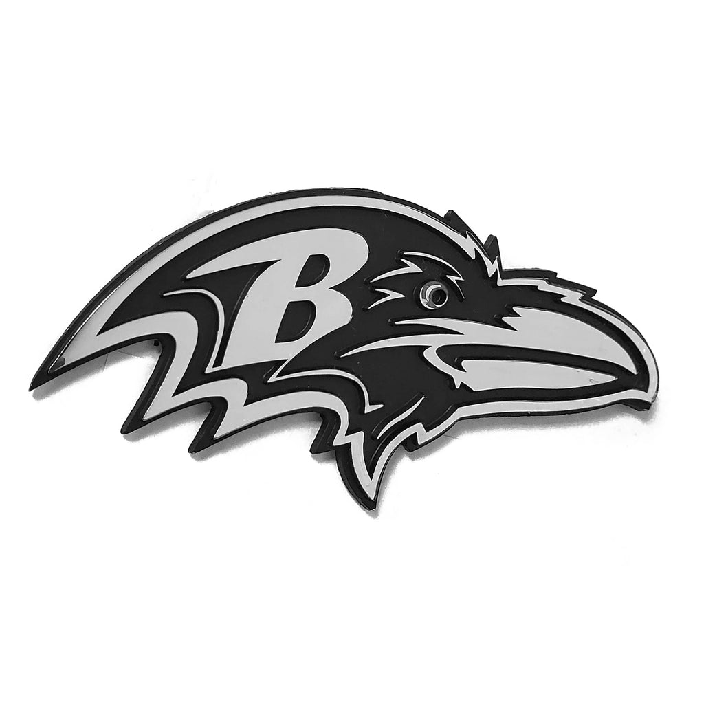 Baltimore Ravens Premium Solid Metal Chrome Plated Car Auto Emblem