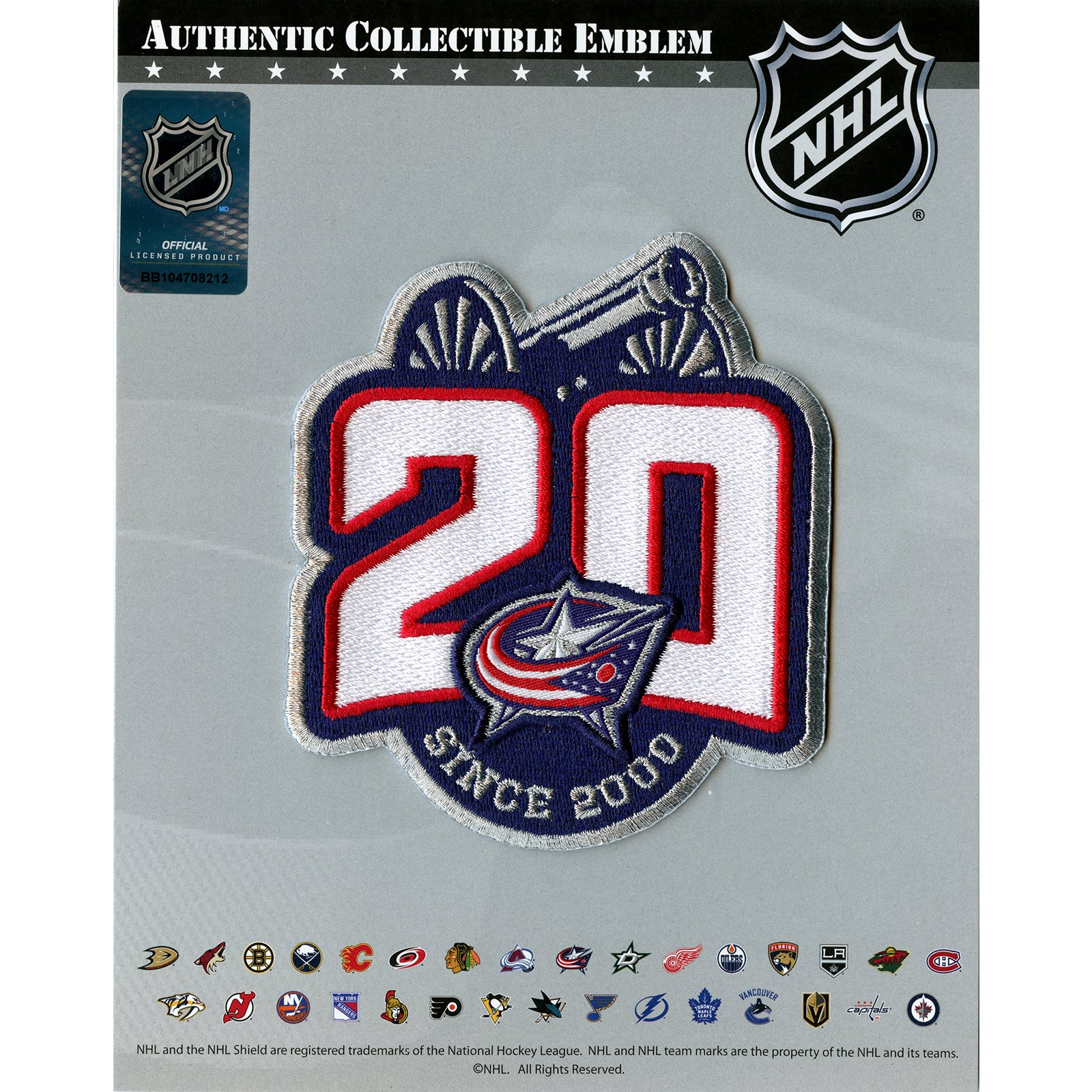 Columbus Blue Jackets 20th Anniversary Jersey Patch (2020-21)