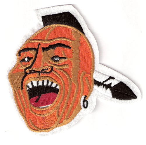 Milwaukee (Atlanta) Braves Screaming Face Jersey Sleeve Patch (Chief Knockahomer)