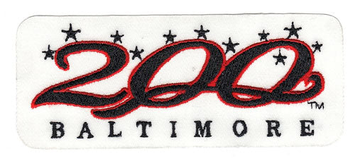 1997 Baltimore Orioles 200th Anniversary of City Patch (White Version)
