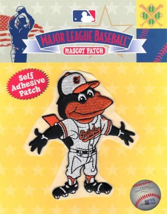 Baltimore Orioles Bird Team Mascot Self Adhesive Patch