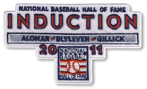 2011 National Baseball Hall Of Fame Induction Patch (Alomar, Blyleven, Gillick)