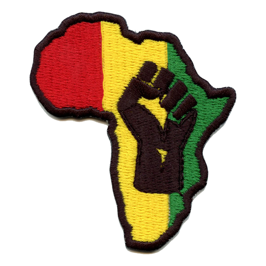 Black LIves Matter Fist In Africa Embroidered Iron On Patch