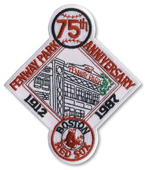 1987 Boston Red Sox Fenway Park 75th Anniversary Patch
