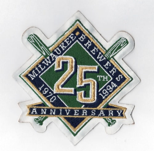1994 Milwaukee Brewers 25th Anniversary Jersey Patch