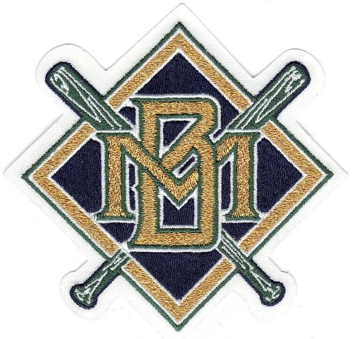 Milwaukee Brewers Throwback Primary Team Logo Jersey Patch (1994-1999)
