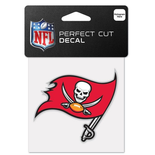 Tampa Bay Buccaneers Primary Team Flag Logo Decal 4 X 4