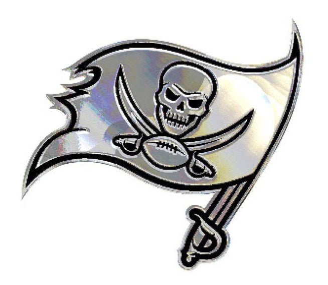 Tampa Bay Buccaneers 2014 New Logo Premium Solid Metal Chrome Plated Car Auto Emblem
