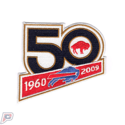 Buffalo Bills 50th Team Anniversary Jersey Patch (2009)
