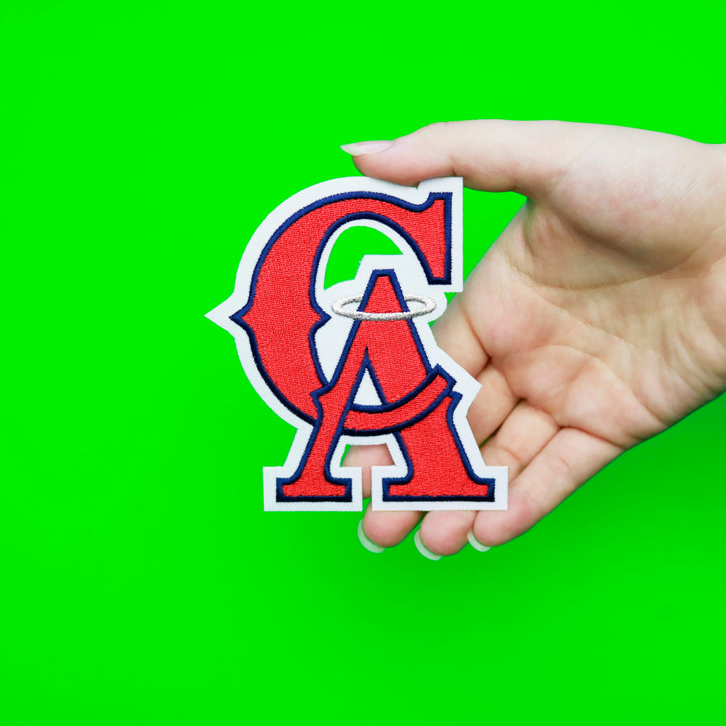California Angels Primary Team Throwback Logo (1995-1996)