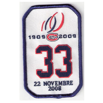Montreal Canadiens Retirement Patch Patrick Roy #33
