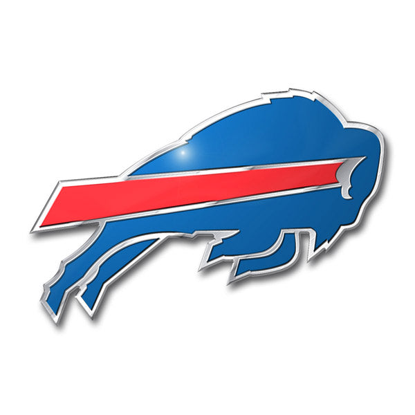 Buffalo Bills Colored Aluminum Car Auto Emblem