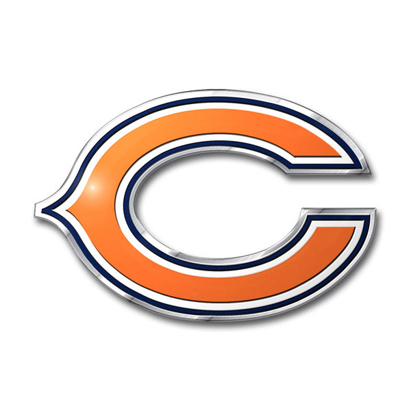 Chicago Bears Colored Aluminum Car Auto Emblem