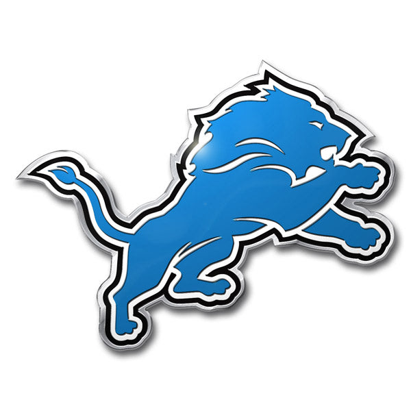 Detroit Lions Colored Aluminum Car Auto Emblem