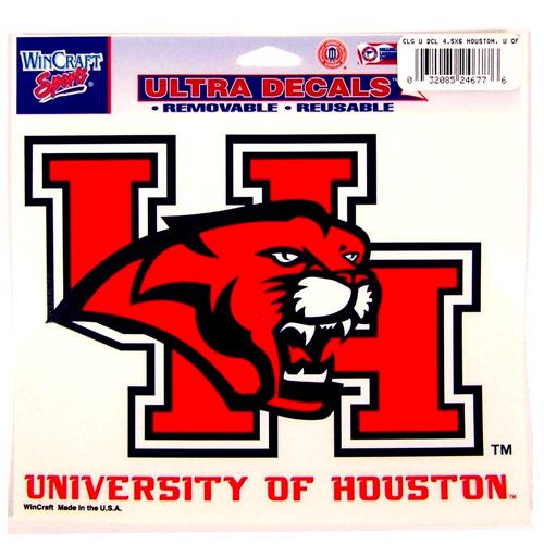 "University of Houston Cougars Primary Team Logo Ultra Decal 5"" X 6"""