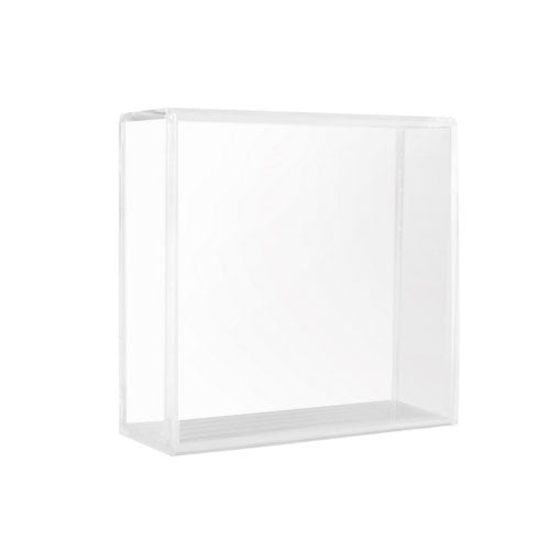 Square Clear Souvenir Hockey Cube NHL Puck Case Holder Display Stand