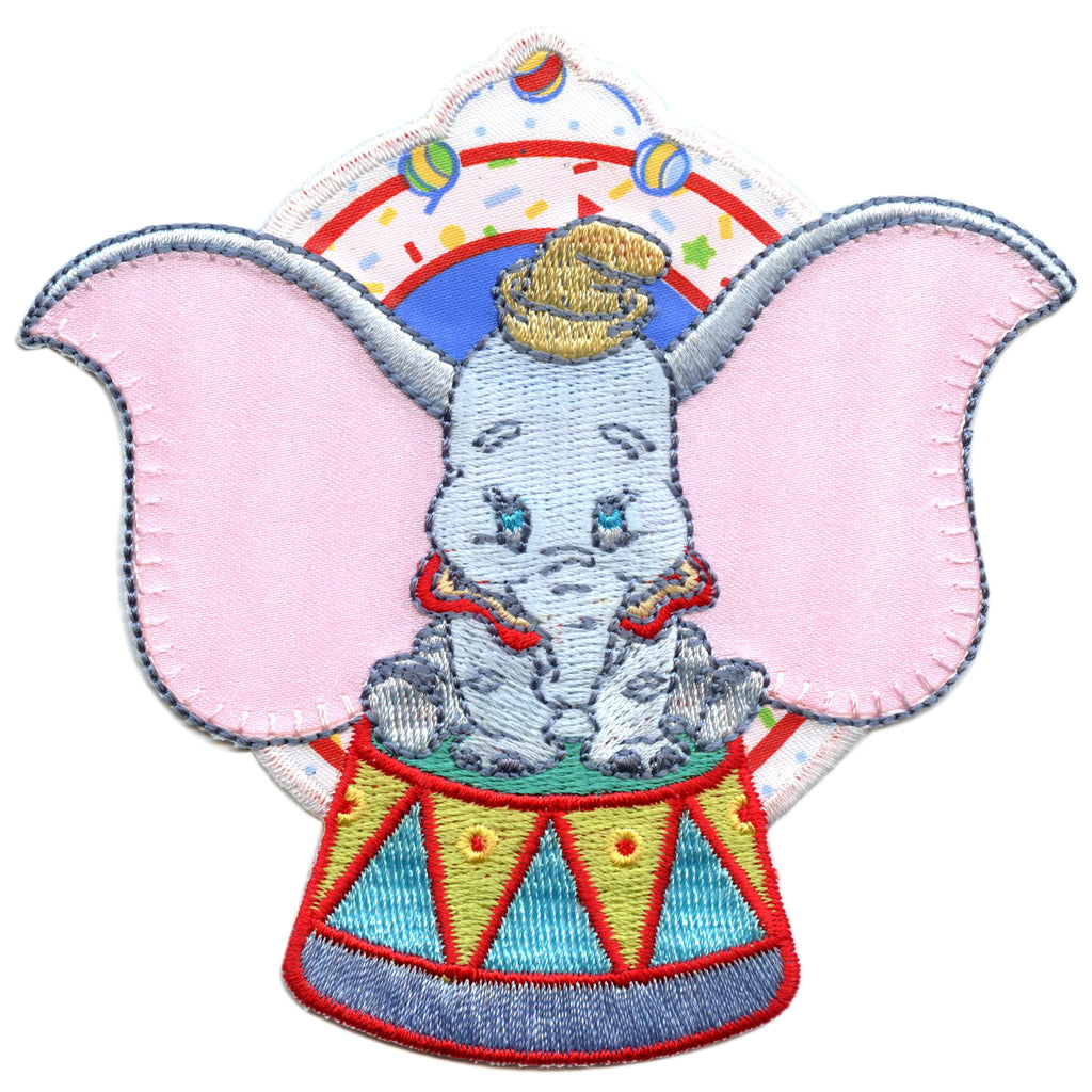 Disney Dumbo Sitting Embroidered Applique Iron On Patch