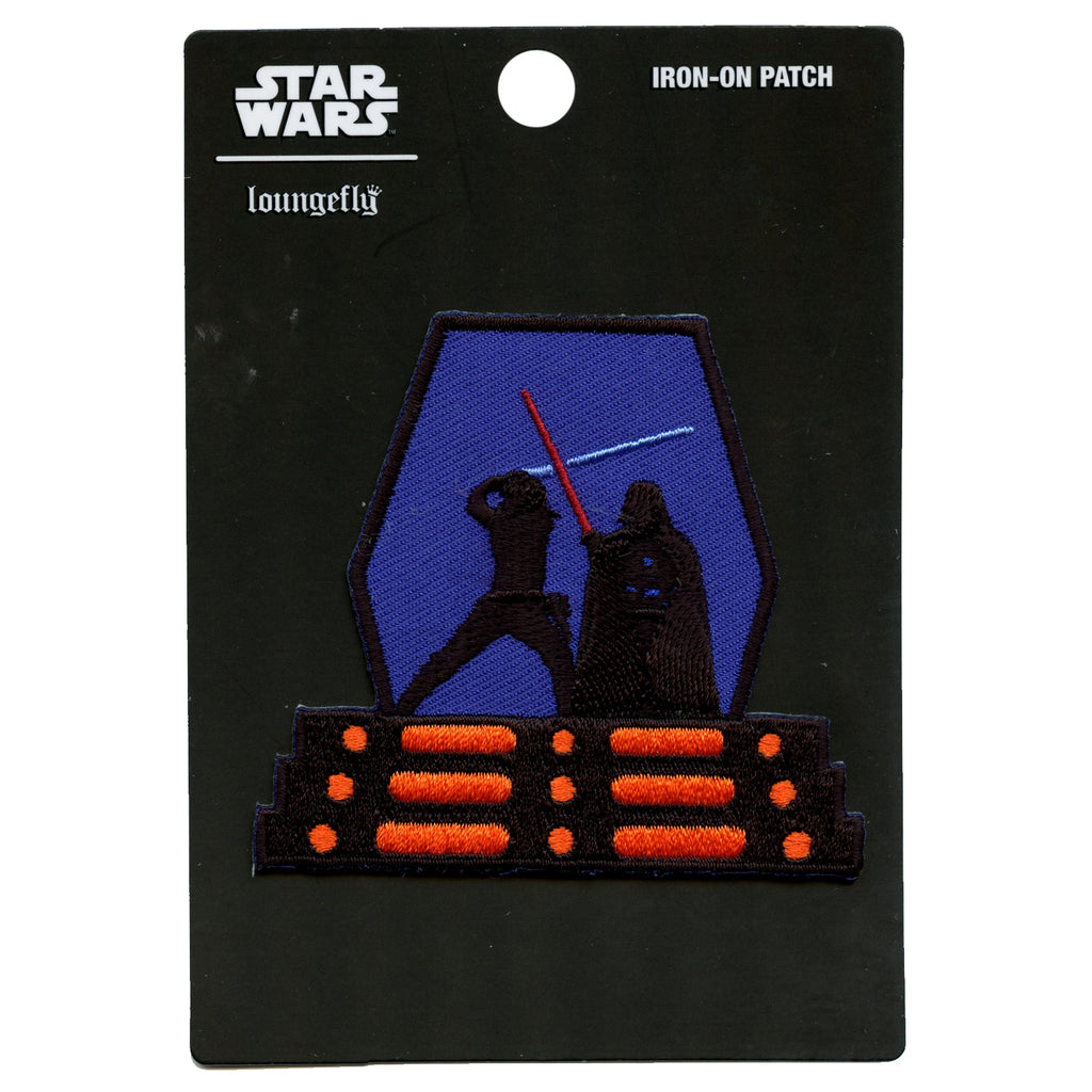 Official Star Wars Luke & Vader Fight Scene Embroidered Iron On Patch