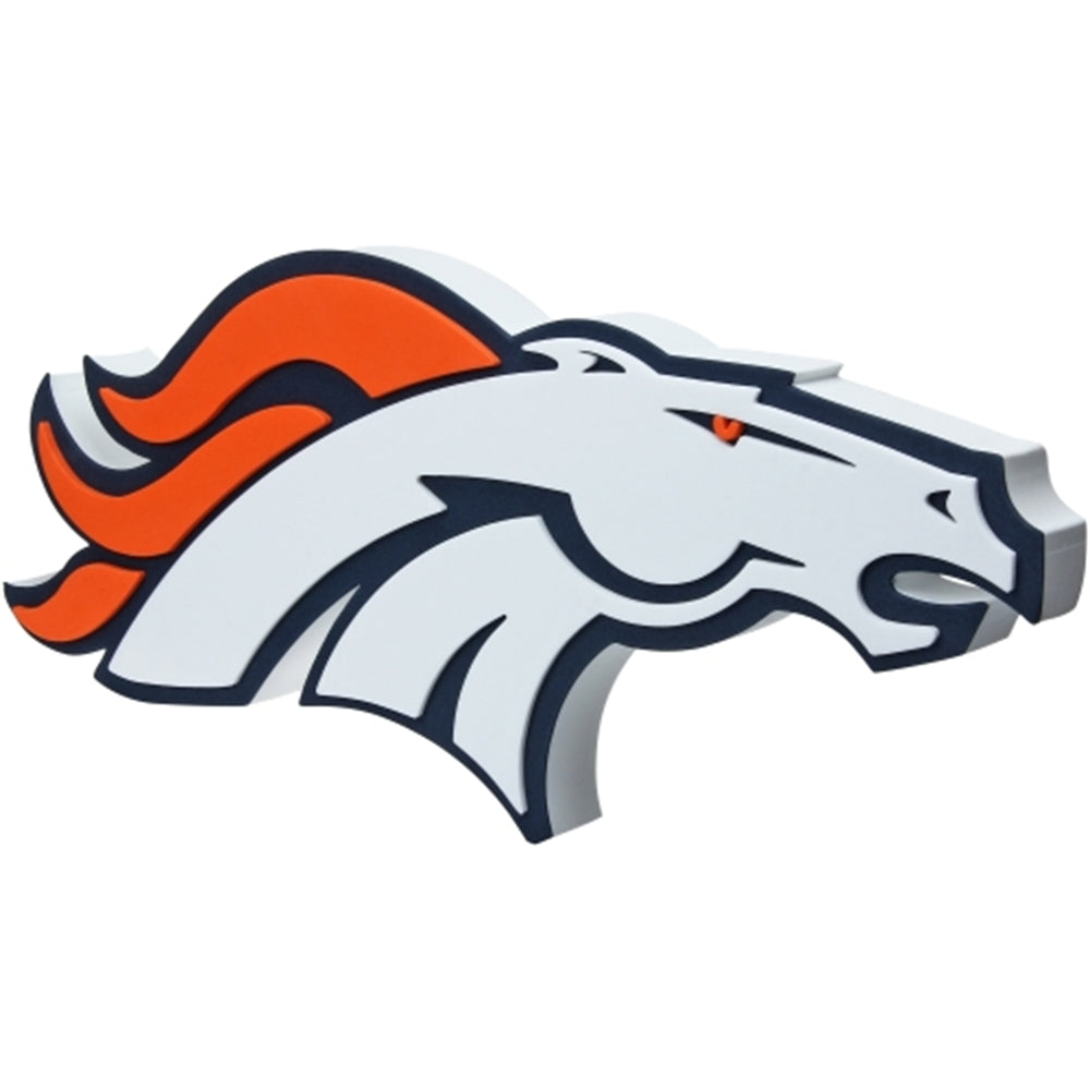 Denver Broncos Primary Team Logo 3D Foam 'Fanfoam' NFL Wall Sign Display
