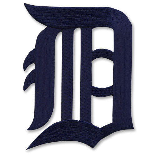 Detroit Tigers Old English D Primary Logo Navy Blue Patch