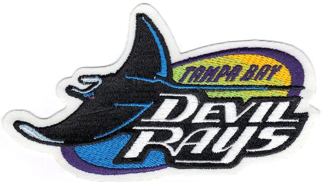 tampa bay rays old primary team logo patch 1998 2000 patch collection