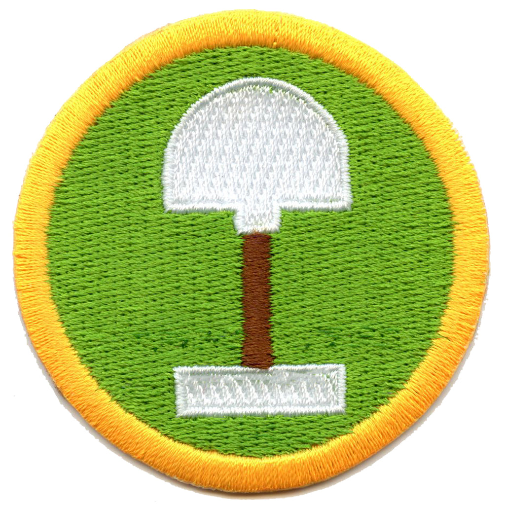 Digging Scout Merit Badge Embroidered Iron on Patch