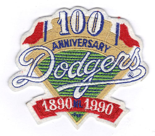 1990 Los Angeles Dodgers 100th Anniversary Jersey Patch