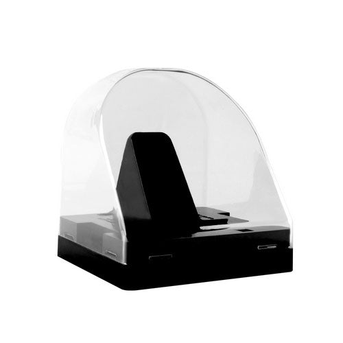NHL Clear Round Souvenir Hockey Dome Puck Case Holder Display Stand
